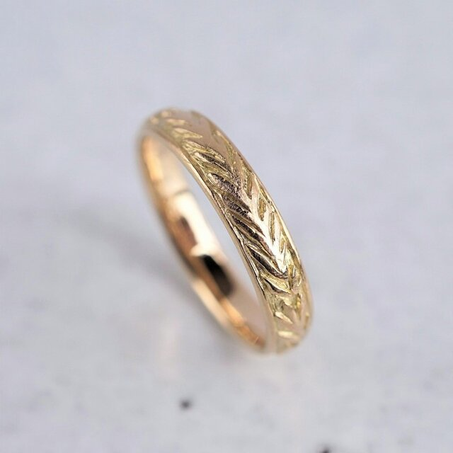 K18 Rosemary crown ring {R075K18}の画像1枚目