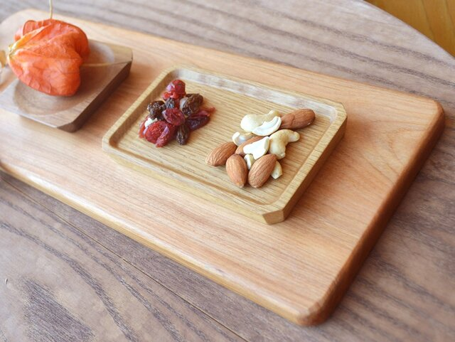 豆皿 - 長方形 - rectangle - 0010 楢(ナラ)の画像1枚目