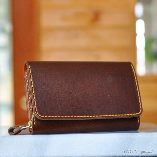 収納性抜群の三つ折り財布 No.3 ブッテーロの画像1枚目