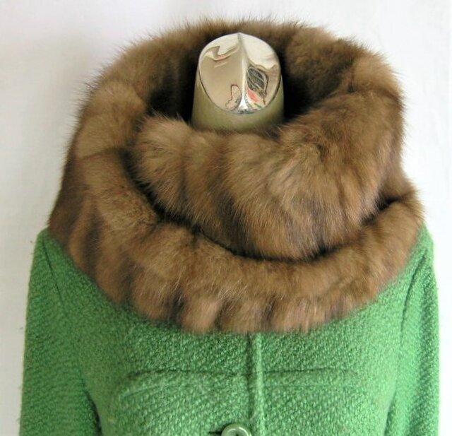 ¶ new antique fur ¶ 毛皮の王様ロシアンセーブルゆったり大き目nejiriスヌード「sebiria」の画像1枚目