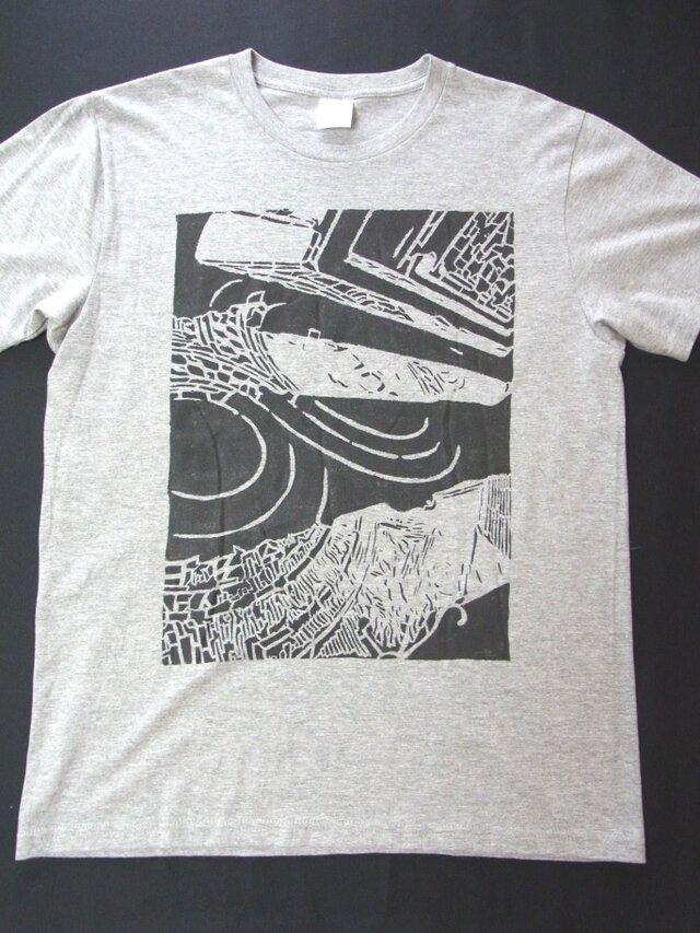 レンガの歩道・Tシャツ 手でペイント 風合いある★こだわり★Tシャツ <受注生産>の画像1枚目