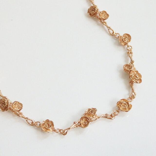 ローズガーデンブレスレット(pink gold)の画像1枚目
