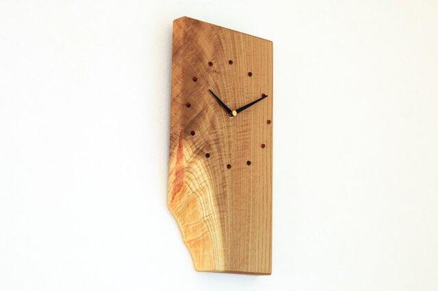キハダの耳付き板の時計 2の画像1枚目