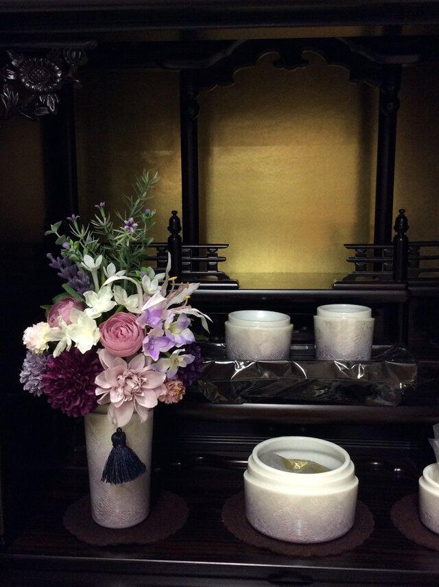 仏花   真珠の涙    彩   (a)   (造花、仏壇、お供え、お盆、お彼岸)の画像1枚目