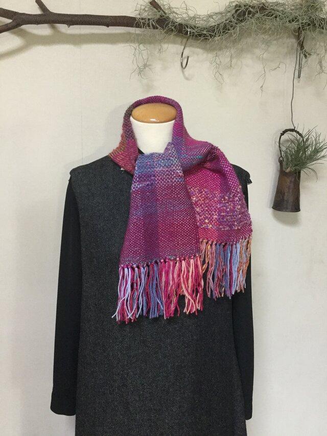 手織りマフラー  〔A〕の画像1枚目