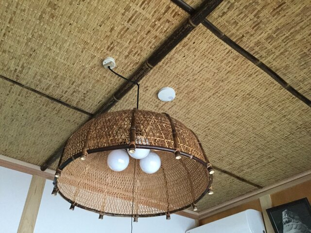 竹編み天井1の画像1枚目