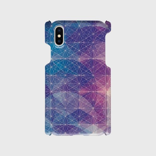プリズム パターン(ブルーサークル) iphone 5/5s/6/6s/SE/7/8/X 専用 ハードケースの画像1枚目