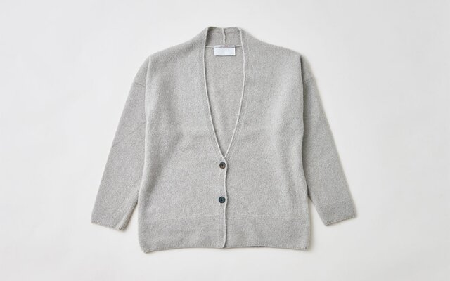 【sale】enrica cashmere&wool cardigan / mochaの画像1枚目