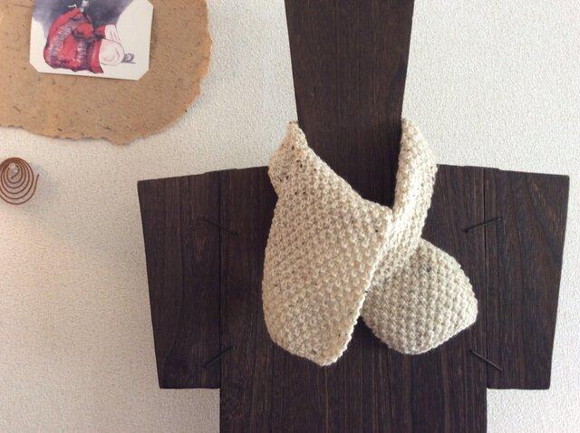 手編みマフラーの画像1枚目
