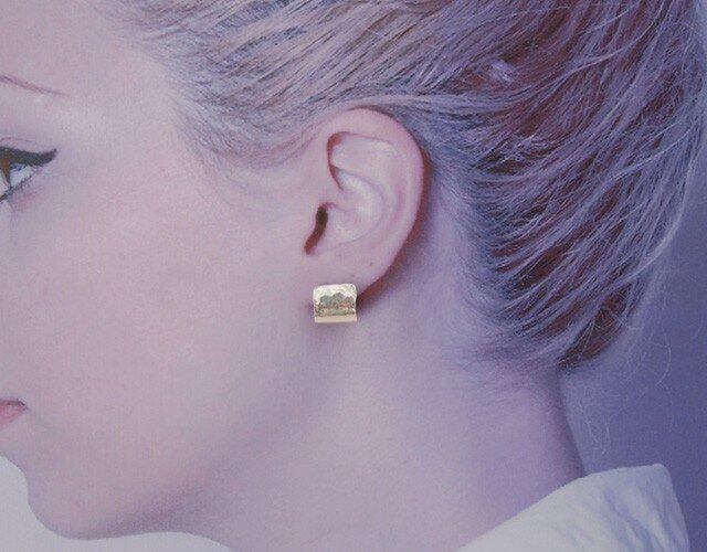 純銀(pure silver)ピアス 一点ものの画像1枚目