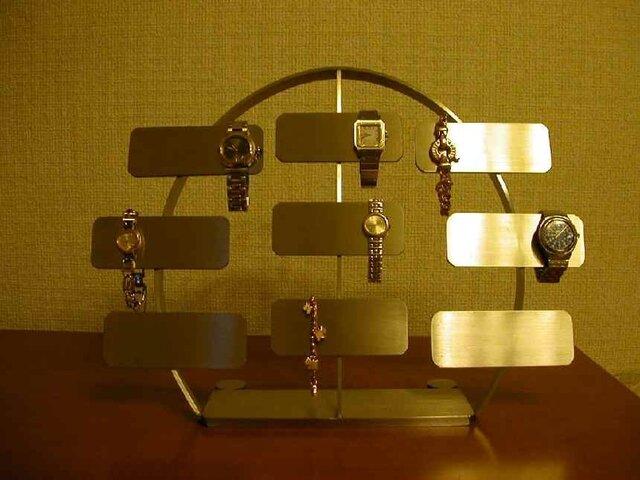 腕時計コレクションのディスプレイに!腕時計 スタンド ステンレスバー18本掛け腕時計スタンドの画像1枚目