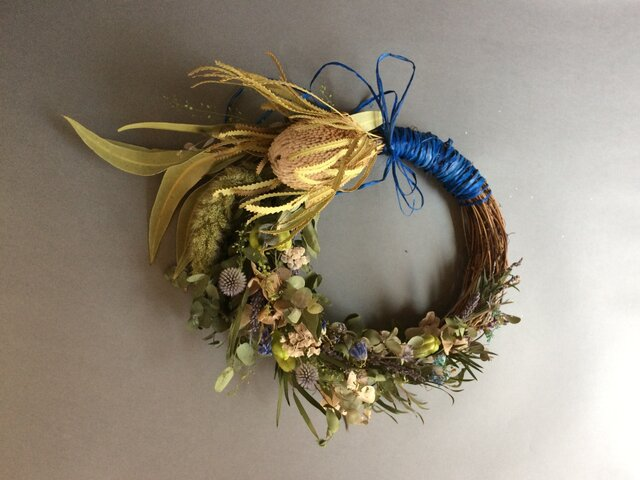 Autumnwedding Wreath bouquetの画像1枚目