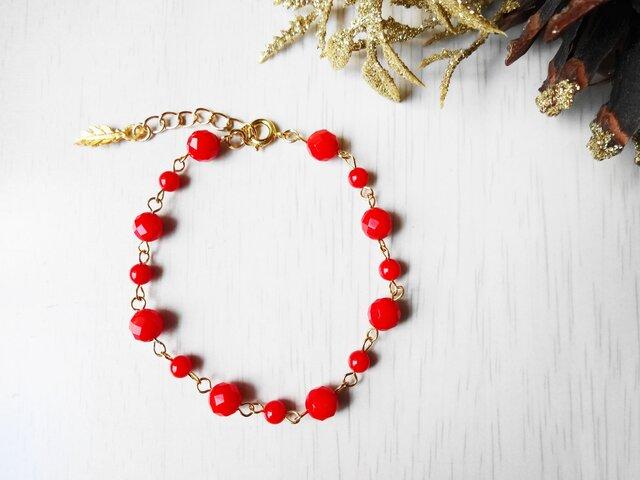 赤珊瑚ブレスレットの画像1枚目