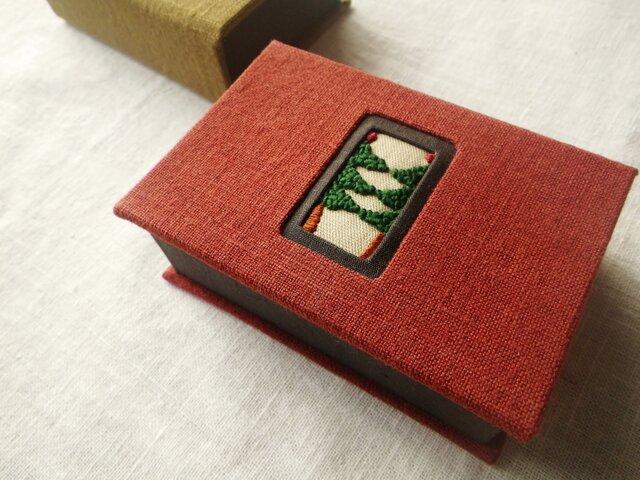 ◆再販◆リネン小箱『ツインツリー』の画像1枚目