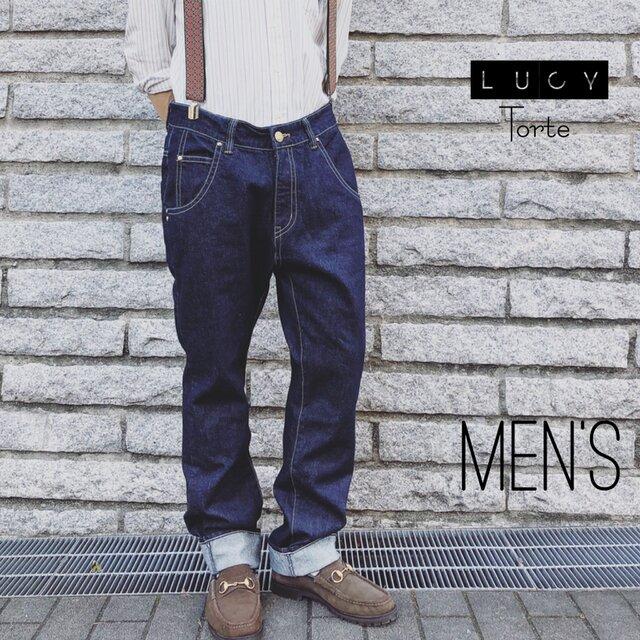 《Men's》デニムパンツ【INDIGO】の画像1枚目