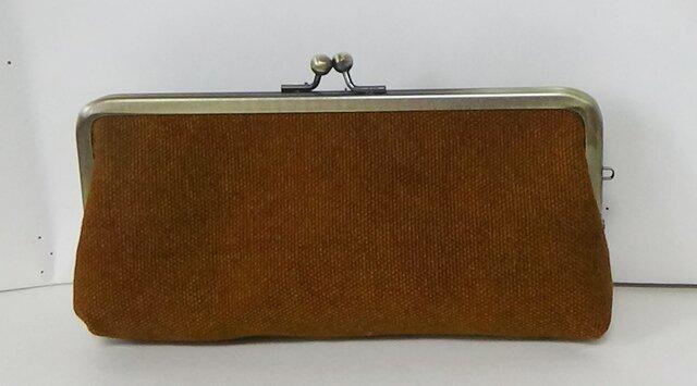 秋色 酒袋(バッカス)レンガ色 がま口ペンケースの画像1枚目