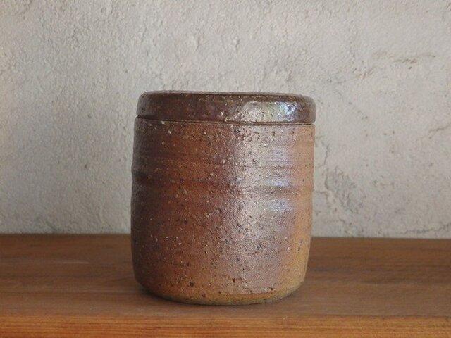 砂糖壷(M・筒形)【雪の月 様】の画像1枚目