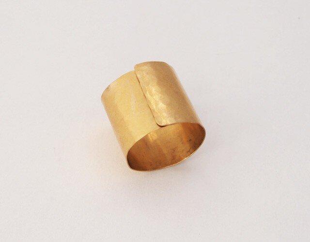 真鍮リング指輪 12号前後の画像1枚目