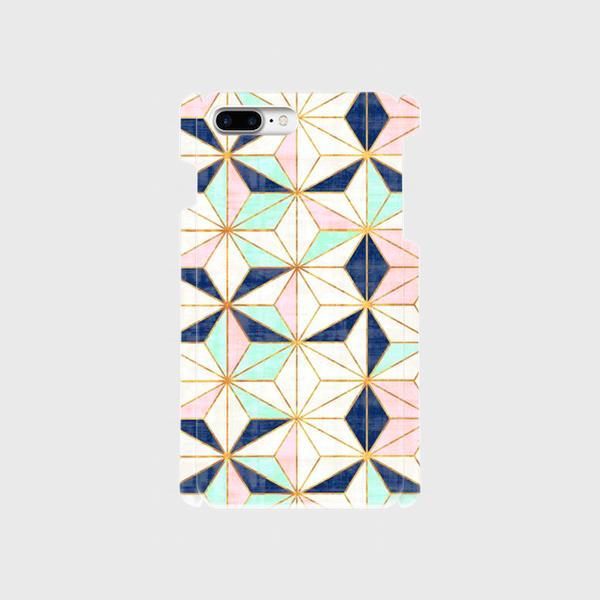 カラフルタイルパターン(星) iphone 6plus/7plus/8plus 専用ハードケースの画像1枚目
