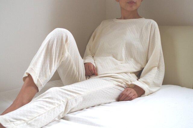 OrganicCotton ねこあしエアニットパジャマの画像1枚目