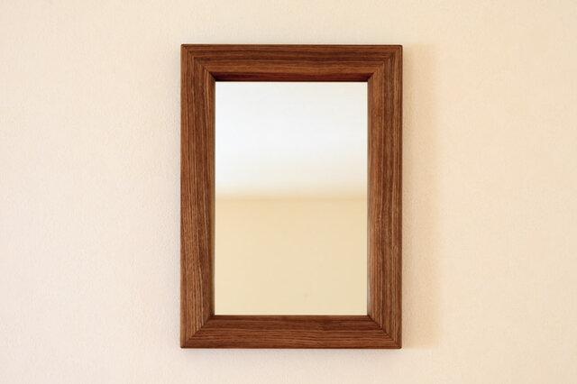 タモの壁掛け鏡の画像1枚目