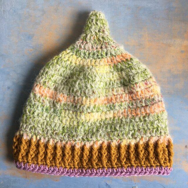 草原の巣  LL とんがり帽子 ニット帽 の画像1枚目