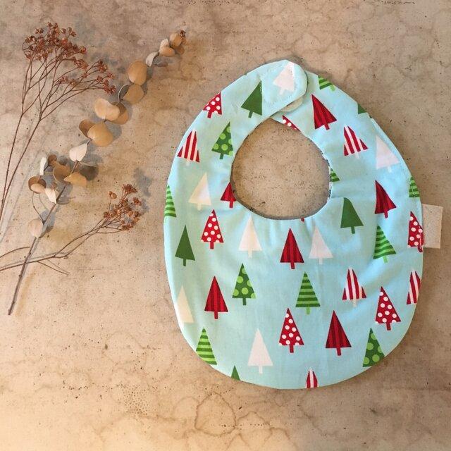 クリスマスツリーとストライプのスタイ(028)の画像1枚目