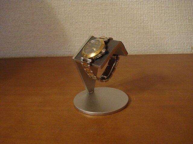 Y様専用ページ 名入れ希望スタンド 腕時計 飾る ブラック一本掛け腕時計スタンド  アングルの画像1枚目