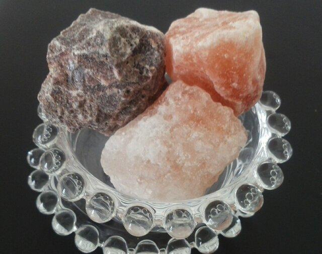 乾燥の季節に!◆岩塩3種ピンク・ルビー・ブラック◆の画像1枚目