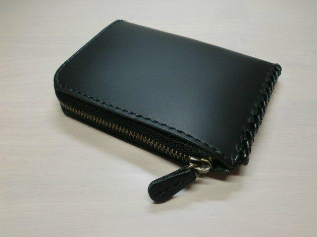 『Bスタイル』オールブラック・クロムレザー・L字ファスナーコインケース・0395の画像1枚目