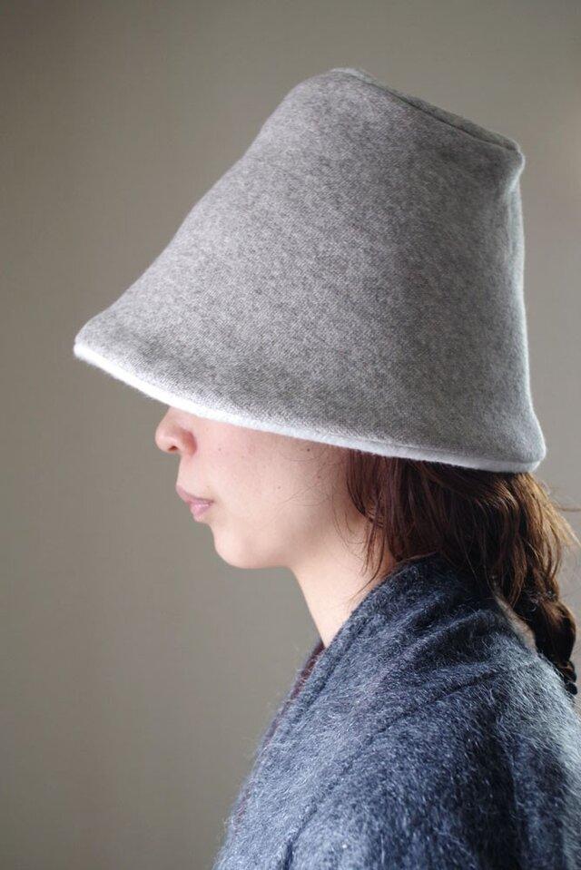 OrganicCotton 起毛ニット生地Boat shape Hatの画像1枚目