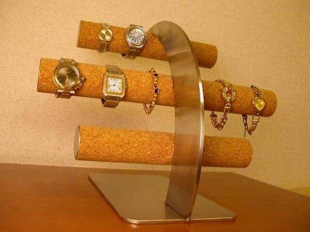 腕時計 インテリア 丸パイプ16本掛け腕時計スタンド ジャイアントスーパーロン ak-designの画像1枚目