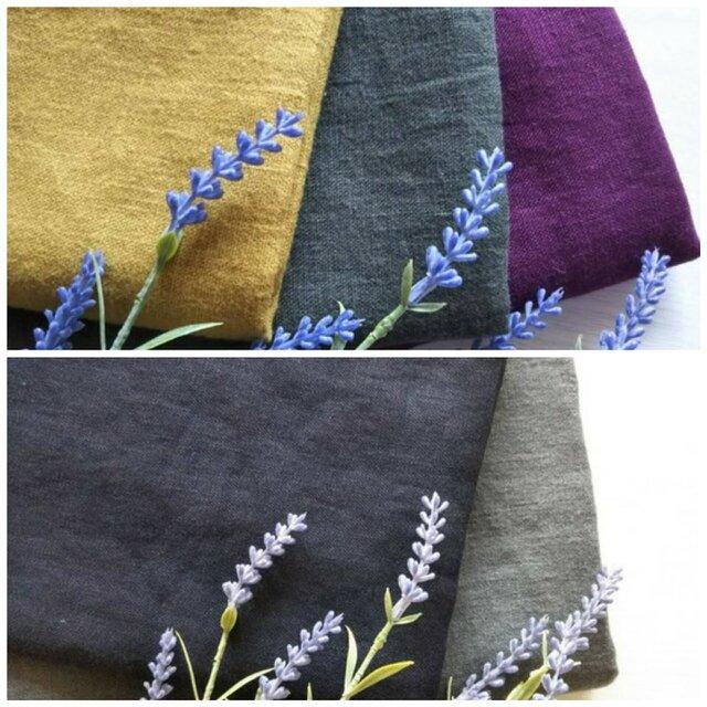 秋冬おすすめ 起毛リネン 全6色 ロング丈スカートの画像1枚目