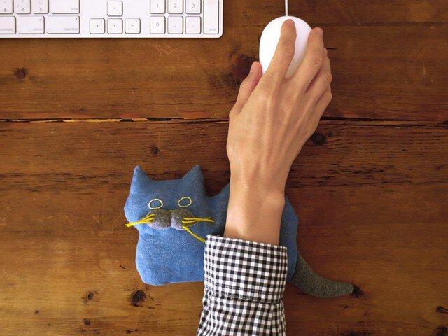 """再販 >> """" Stickitten"""" kitten loaf フランネル / ブルーの画像1枚目"""