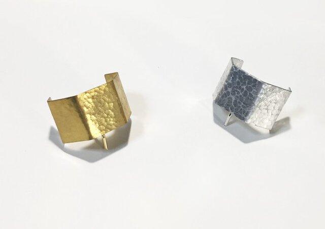 真鍮 / アルミの立体5面ヘアカフの画像1枚目