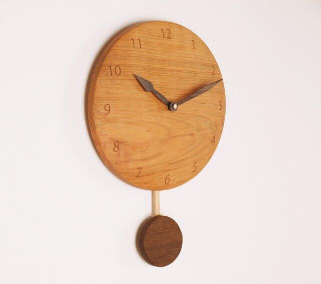 木製 振り子時計 桜材4の画像1枚目