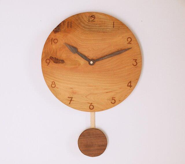 木製 振り子時計 桜材6の画像1枚目