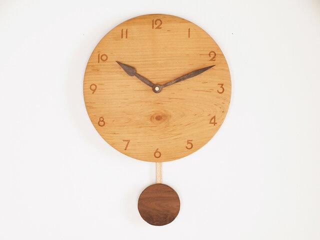 木製 振り子時計 桜材8の画像1枚目