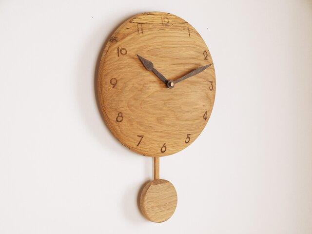 木製 振り子時計 楢材4の画像1枚目
