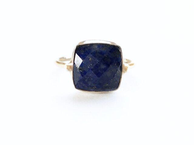 一点もの k18 Lapis Lazuli SQ リング /受注制作の画像1枚目