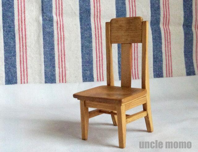ドール用椅子(色:オーク) 1/12ミニチュア家具の画像1枚目