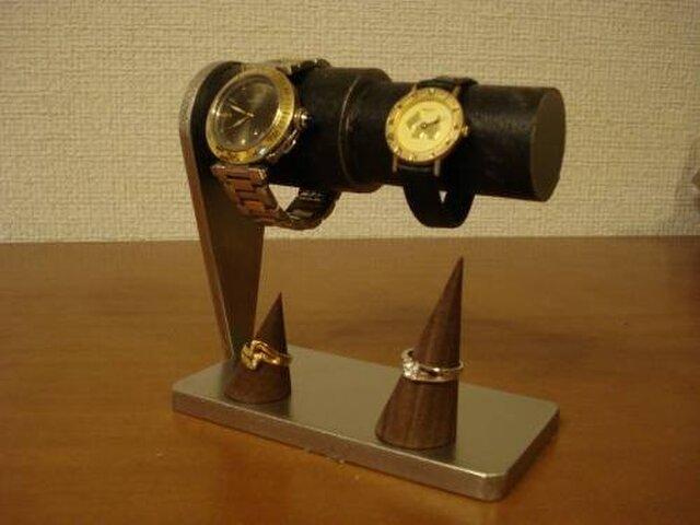 ハロウィンに ブラックコルクペア連結腕時計スタンド リングスタンドバージョン  AKデザインの画像1枚目