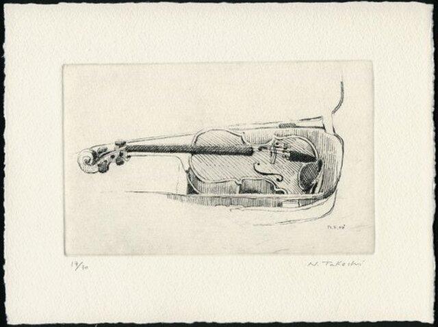バイオリン / 銅版画 (作品のみ)の画像1枚目
