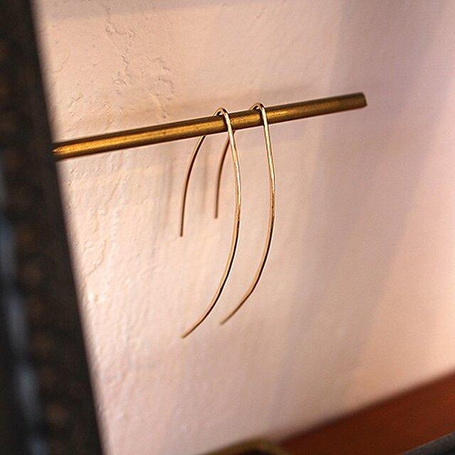 十金槌目棒引掛耳飾 rpc-60の画像1枚目