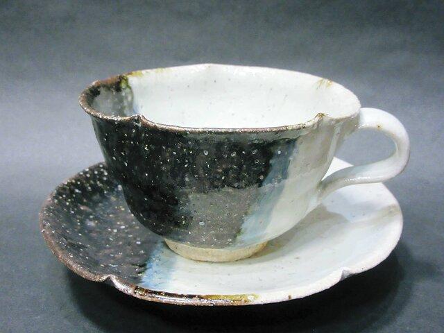 朝鮮唐津コーヒーカップ(掛け割け)の画像1枚目