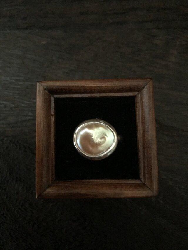 淡水パールのリング(hold)の画像1枚目