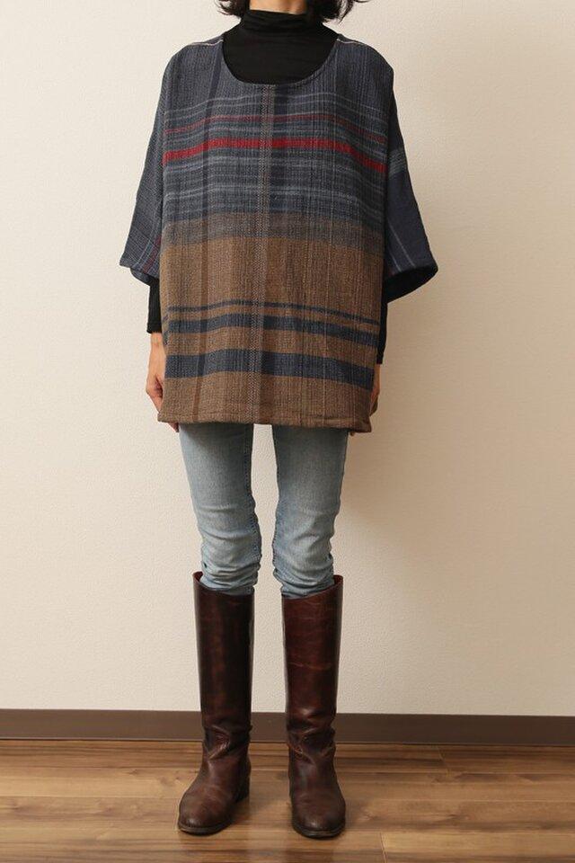 fuwa-T half sleeves wool70 cotton30の画像1枚目