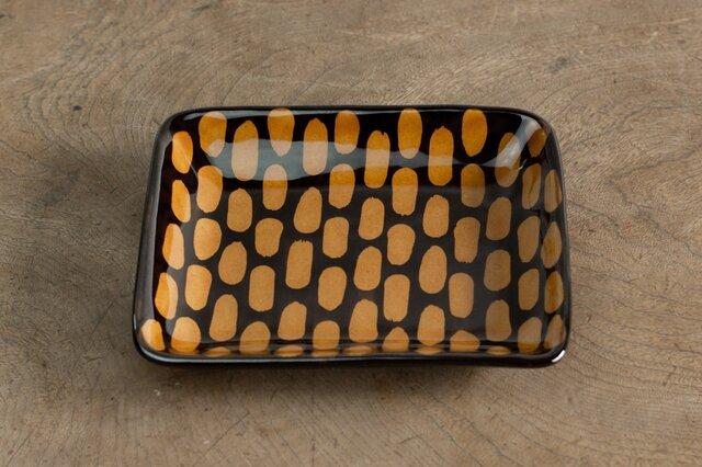 飴釉四角皿(AJIRO)の画像1枚目