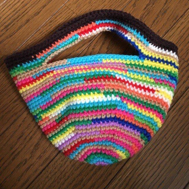 手編みのミニトートバッグ④の画像1枚目