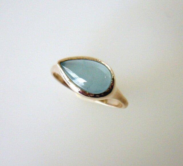 ブラジル産アクアマリンのK10の指輪の画像1枚目